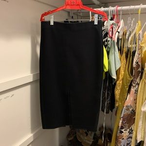 Black knee length zara skirt